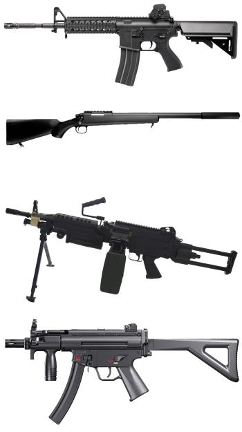 Different Types of Airsoft Replica Weapons